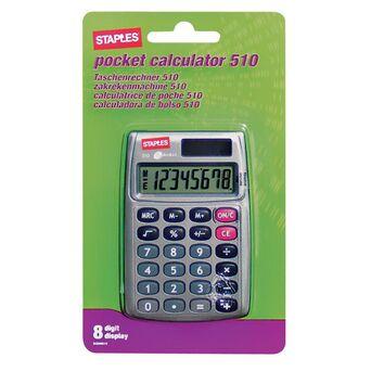 Staples Calculadora de Bolso 510, 8 Dígitos, Cinzento
