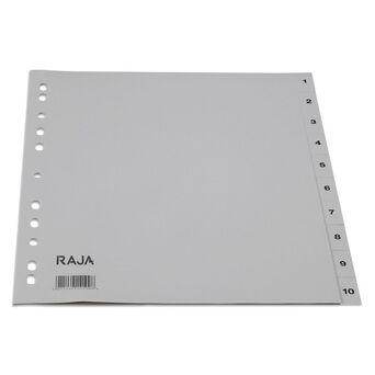 Staples Separador Pré-impresso, A4, Plástico, Conjunto de 10 Abas, Cinzento