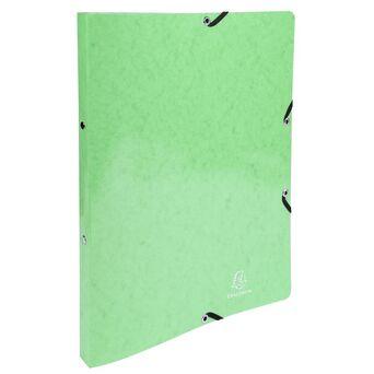 EXACOMPTA Dossier de argolas com elástico Iderama com 2 argolas em O de 15 mm para 140 folhas A4, 320 x 250 mm, cartão com polipropileno, lima