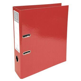 EXACOMPTA Arquivador Iderama com alavanca e mecanismo Prem'Touch® para 760 folhas A4, 320 x 300 x 70 mm, cartão com polipropileno, vermelho