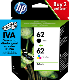 HP Tinteiro 62 Combo
