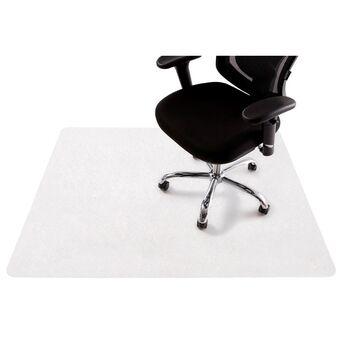 Staples Tapete para cadeira, retangular, 1200 mm x 1500 mm, pavimento duro, policarbonato 100% reciclável, transparente