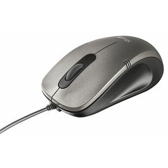 Trust Rato Ótico Ivero, USB, 1000 dpi, Cinzento