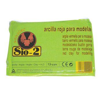SIO-2 Argila Vermelha Escolar para Modelar, 1,5 kg