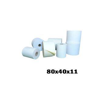 SITTEN Rolo de Papel Térmico, 80 x 40 x 11 mm, Branco