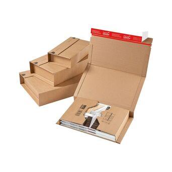 ColomPac Caixa para envio de livros CP020, cartão ondulado, castanho, 198 x 135 x 63 mm