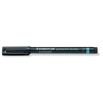 STAEDTLER Marcador Permanente Lumocolor® 319, Ponta Fina, Traço de 0,6 mm de Espessura, Preto