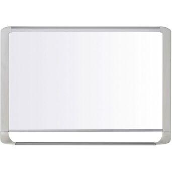 BI-OFFICE Quadro branco magnético MasterVision, aço lacado, superfície branca e brilhante, moldura em cinzento claro, 600 x 900 mm