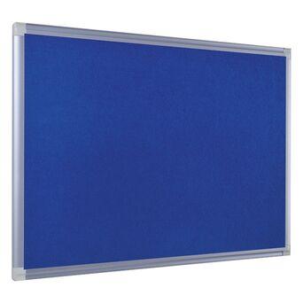BI-OFFICE Quadro de feltro Maya New Generation, moldura em alumínio, azul, 900 x 600 mm