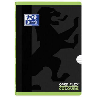 Oxford Caderno Agrafado Openflex Colours A4, 48 Folhas, Pautado, Preto/Verde