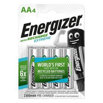 Energizer Pilha Recarregável Extreme AA LR6, 2300 mAh, Embalagem 4 unidades, Pré-Carregadas