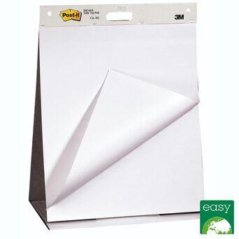 Post-it Bloco de Reuniões de cavalete liso branco 20 folhas/bloco