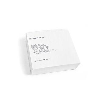 Bloco de Notas Fotobook 'Motivação', 36 Desenhos Diferentes, 11,8 x 10,6 cm, Branco