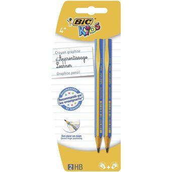 BIC Lápis de Grafite Kids™, Mina HB, Corpo Triangular Azul
