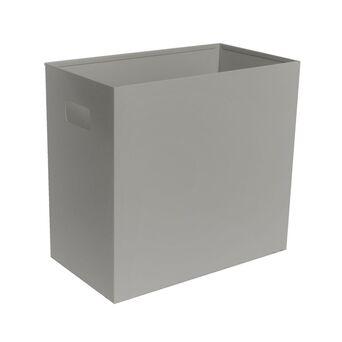Papeleira Retangular, 300 x 185 x 325 mm, Chapa de Aço, Cinzento
