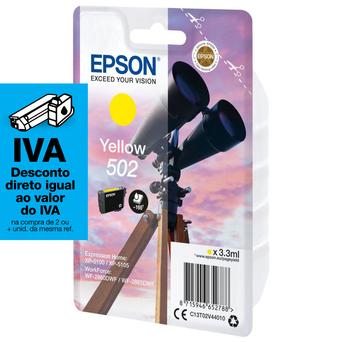 Epson Tinteiro Original 502, Amarelo, C13T02V44020