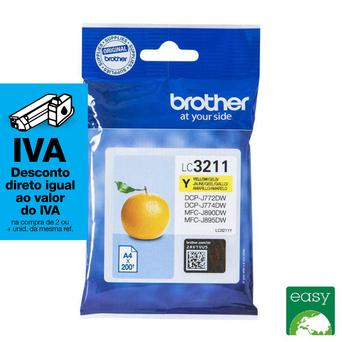 brother Tinteiro LC-3211, Amarelo, Embalagem Individual, LC-3211Y