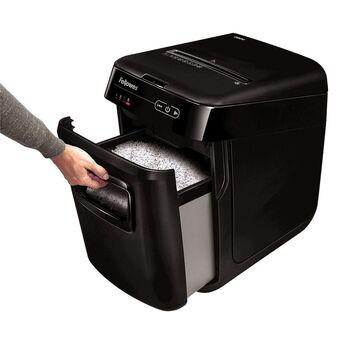 FELLOWES Destruidora de Microcorte de Alimentação Automática AutoMax™ 200M, 200 Folhas, Cesto de 32 L, Destrói: Agrafos, Cartões de crédito