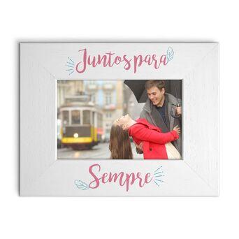 Moldura de Mesa 'Juntos para Sempre', 170 x 220 mm, Rosa
