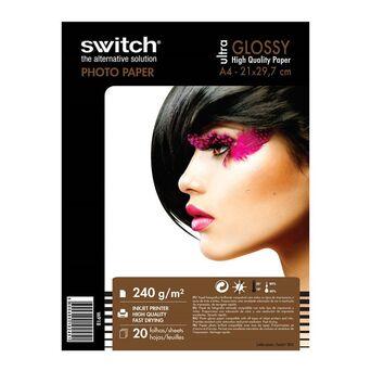 Papel Fotográfico Ultra Glossy para Impressoras Jato de Tinta, A4, Brilhante, 240 g/m², Branco