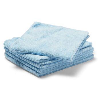 Staples Pano de Limpeza de Microfibras, 250 g/m², 5 x Azul, 35 x 38 cm