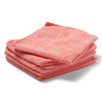 Staples Pano de Limpeza de Microfibras, 250 g/m², 5 x Rosa, 35 x 38 cm