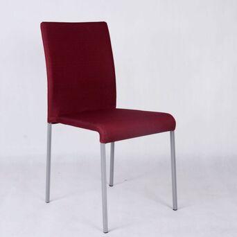 Cadeira de Visitante Line, Tecido, Vermelho, 6 Unidades