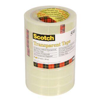 Scotch Fita transparente 550, 19 mm x 66 m, embalagem de 8