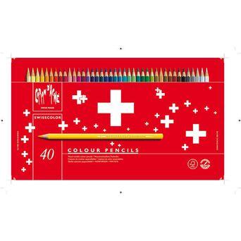 Caran D'Ache Lápis de Cor Swisscolor®, Corpo Hexagonal, Minas de Várias Cores