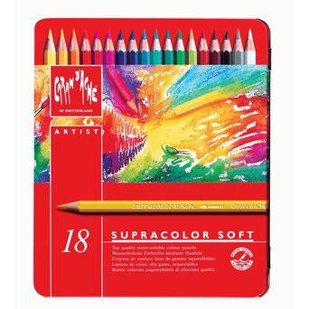 Caran D'Ache Lápis de Cor Supracolor® Soft, Corpo Hexagonal, Minas de Várias Cores