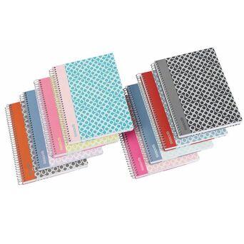 Caderno Espiral Smooth, A4, 80 Folhas, Quadriculado, Capa Dura, Cores Sortidas