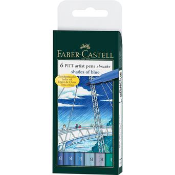 FABER-CASTELL Marcador Artist Pitt, Tinta da China Azul