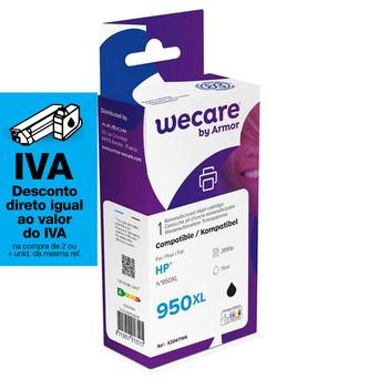 Wecare Tinteiro refabricado, compatível com  HP 950XL B, CN045AE, preto embalagem Única