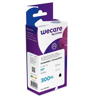 Wecare Tinteiro refabricado, compatível com  HP 300XL B, CC641EE, preto embalagem Única