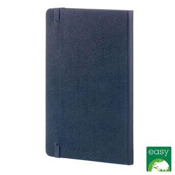 MOLESKINE Bloco de Notas Classic Hard Cover, 21 x 13 cm, 120 Folhas, Pautado, Capa Dura em Cartão, Azul Safira