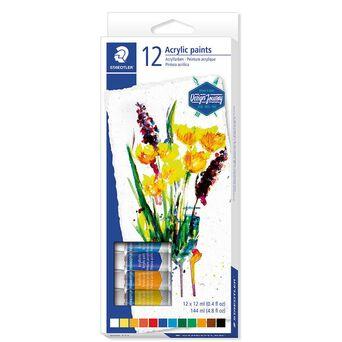 STAEDTLER Tinta Acrílica Design Journey 8500, 12 ml cada, Várias Cores