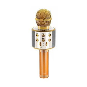 Microfone de Karaoke, Bluetooth®, Dourado