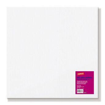Staples Tela de Pintura, Algodão, 40 x 40 cm, Branco