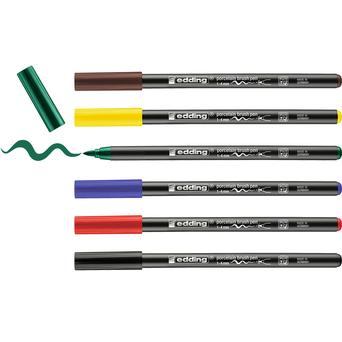 edding Marcador Pincel Porcelana 4200, 1-4 mm, Cores Sortidas, 6 Unidades