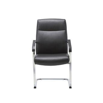 Staples Cadeira de Visitante Apollo, Pele Sintética, Preto
