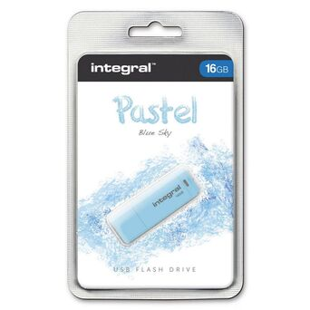 INTEGRAL MEMORY Disco USB 2.0 Pastel, 16 GB, Azul