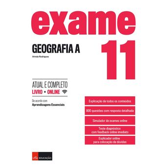 LEYA Livro 'Exame – Geografia', 11º Ano