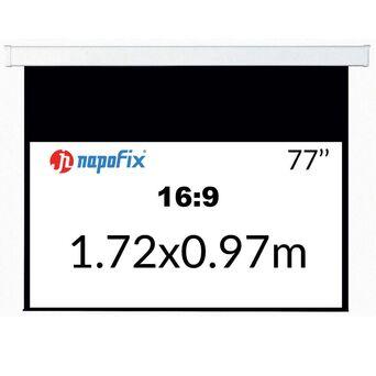NAPOFIX Tela de Projeção Manual S169-1800, 1720 x 970 mm