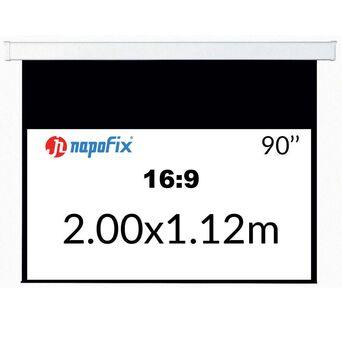NAPOFIX Tela de Projeção Manual S169-2080, 2000 x 1120 mm