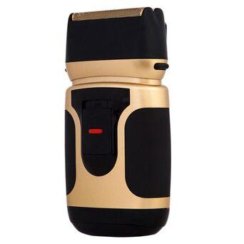 EHS.TV Máquina de Barbear PowerTouch Gold Edition, 2 Pilhas AA, Preto e Dourado