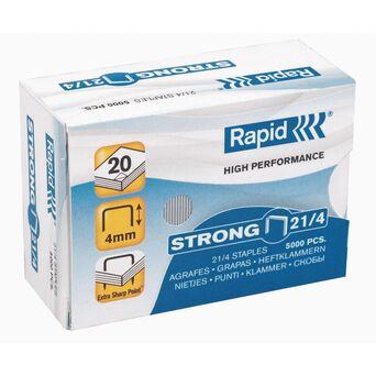Rapid Agrafos Strong, 21/4, 20 Folhas, Caixa 5 000