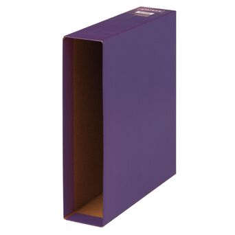 Staples Caixa para Pasta Lombada Larga Violeta