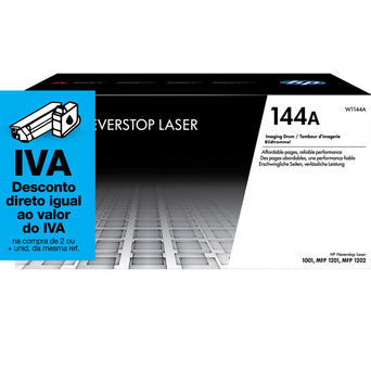 HP Recarga Tambor de Imagem Neverstop Laser Original 144A, Preto