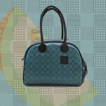 SMARTLUNCH Lancheira SmartCity Pied de Poule Melon, 27,5 x 21 x 15 cm, Azul