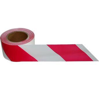 Fita Sinalizadora, Polipropileno, 70 mm x 250 m, Branco e Vermelho